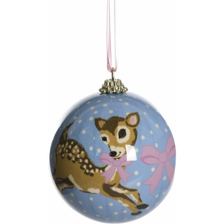 Baby Deer Pattern Bauble
