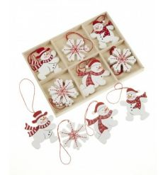 A delightful box of assorted hanging festive decorations