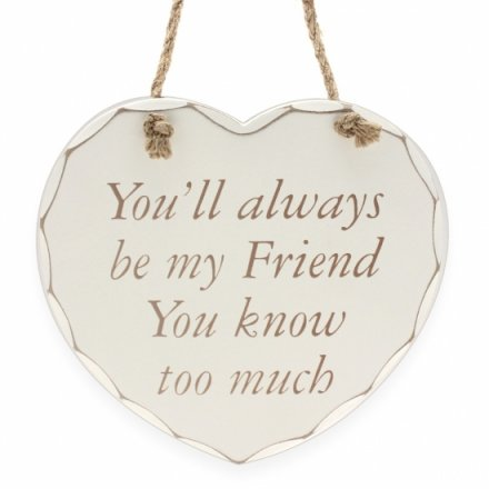 Always Be My Friend - Plaque