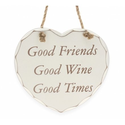 Good Friends Good Wine - Plaque