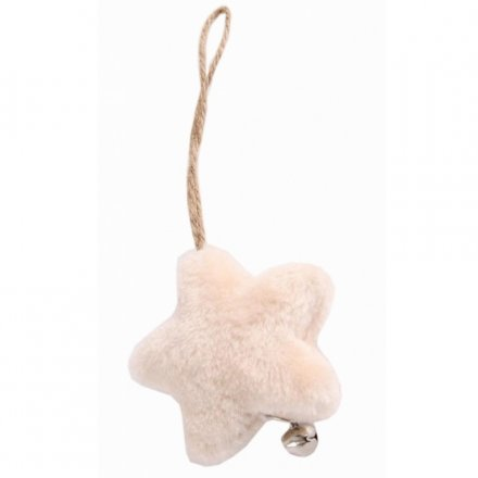 Fluffy Star Hanger With Bell