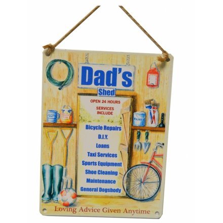 Dads Shed Metal Sign