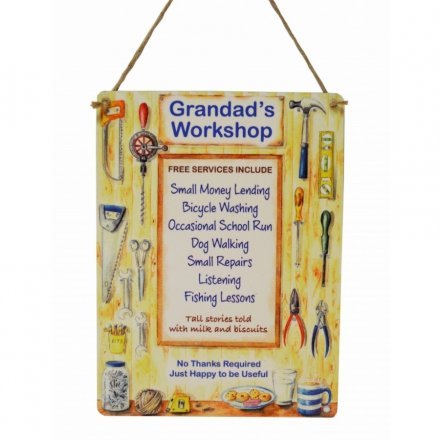 Grandads Workshop Services Metal Sign