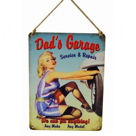 Dads Garage Vintage Metal Sign 19127 Rosefields