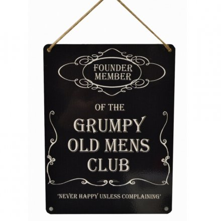 Grumpy Old Mens Club Metal Sign