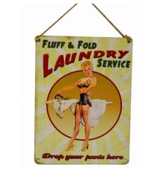 Vintage hanging metal sign, superb quality, add some fun to your home