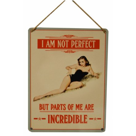 I Am Not Perfect Vintage Metal Sign