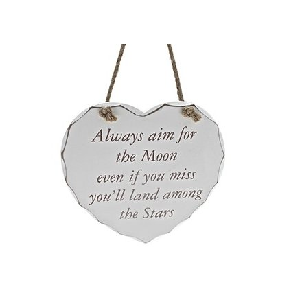 Aim For The Moon Heart Plaque