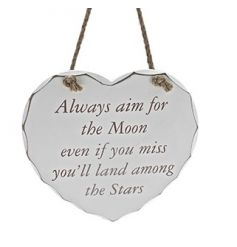 Always aim for the moon. Even if you miss you'll land among the stars.