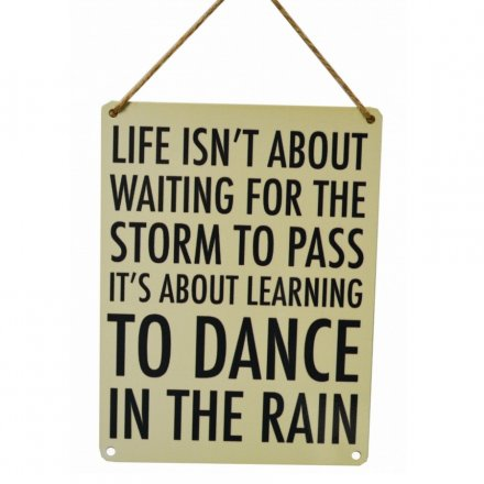 Dance In The Rain Vintage Metal Sign