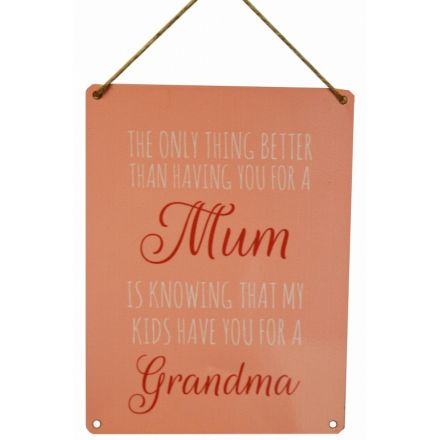 Mum Grandma Vintage Metal Sign