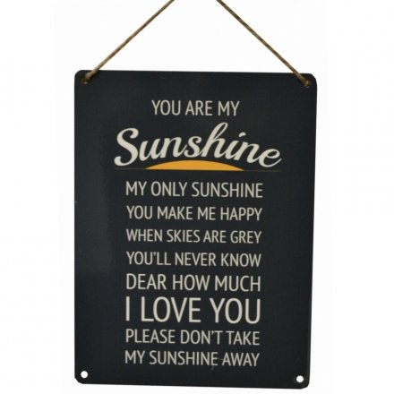 You Are My Sunshine Vintage Metal Sign