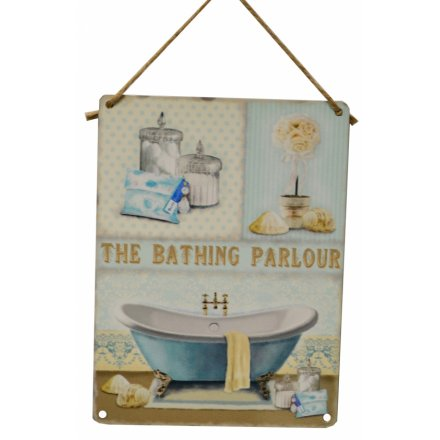 Bathing Parlour Metal Sign