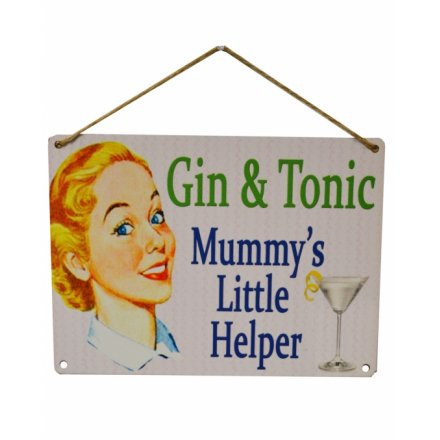 Gin & Tonic Vintage Metal Sign