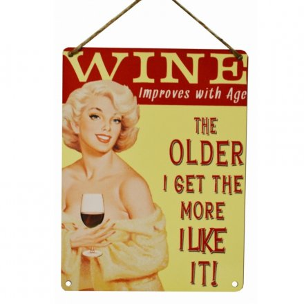 Improves With Age Vintage Metal Sign