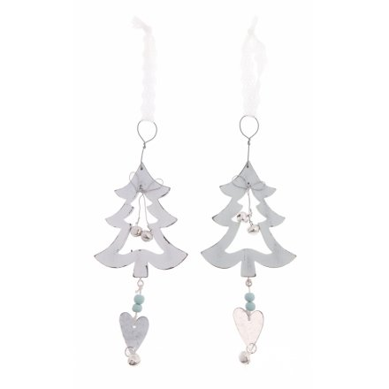 Tree Hanging Decs White, 2a