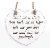 Hanging heart wooden plaque with popular quote