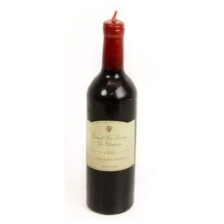 Wine Bottle Shaped Candle 28.5cm