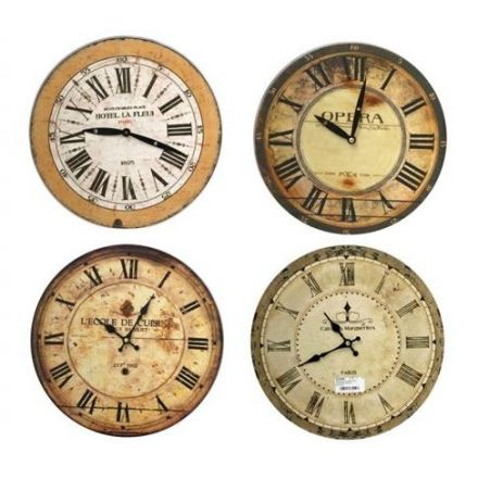 French Word Clock 28cm
