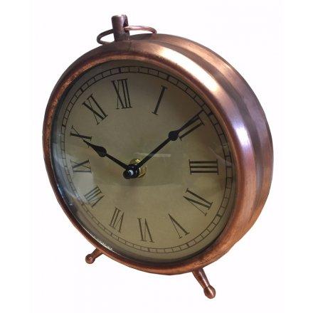 Copper Style Retro Clock 19cm