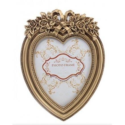 Lp23712 Gold Heart Frame Large 19473 Homeware Photo Frames