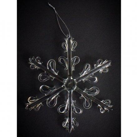 Glass Snowflake 18cm