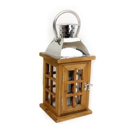 Medium Dark Wooden Lantern