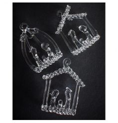 A stunning set of miniature nativity scenes in three assorted designs.