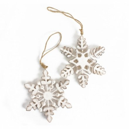 Wooden Hanging Snowflake, 2a