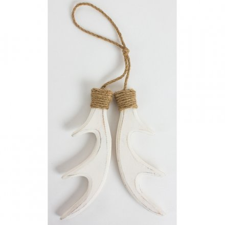 Christmas Wooden Hanging Antler, Large