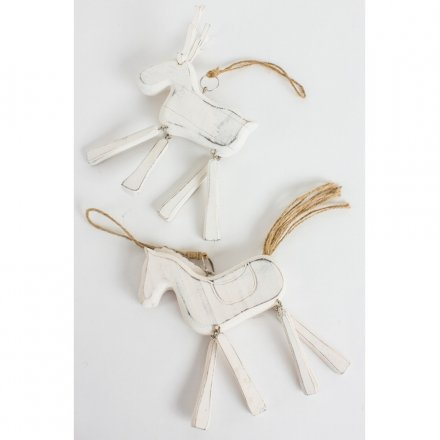 Wooden Hanging Reindeer and Horse, 2a
