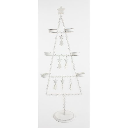 Metal Tree W/Star T-Light Holder 61cm