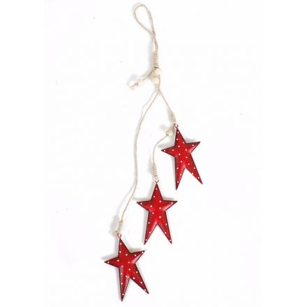 Hanging Metal Stars Decoration 45cm