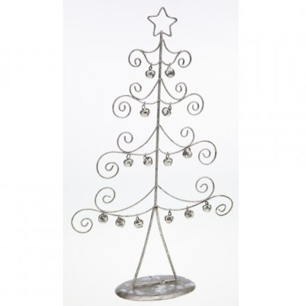 Curled Wire Tree With Bells 32.5cm
