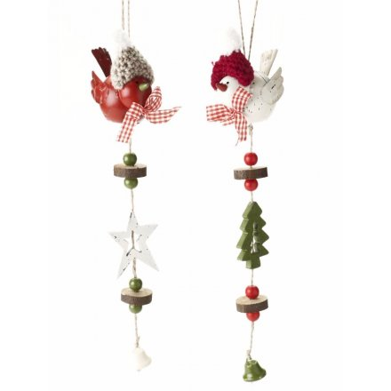 Metal Bird Garland Mix
