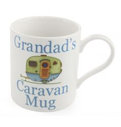White China mug from Leonardo 'Grandads caravan mug'