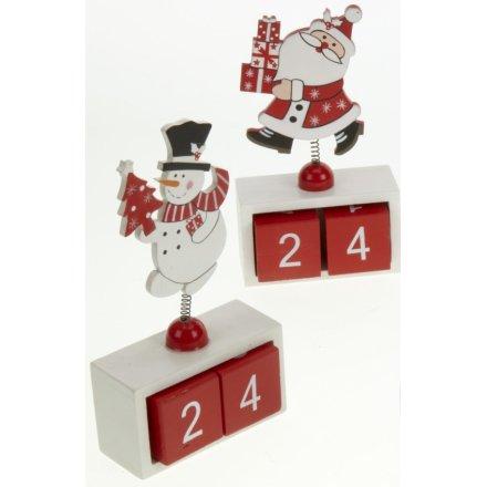 Wooden Santa/Snowman Calendar, 3a