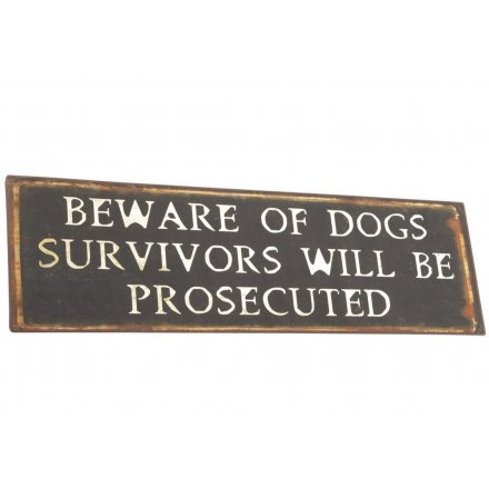 Metal Sign Beware of Dogs
