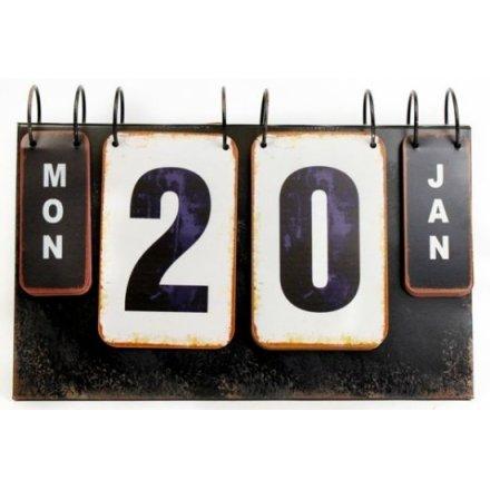 Metal Flip Style Calendar 27cm