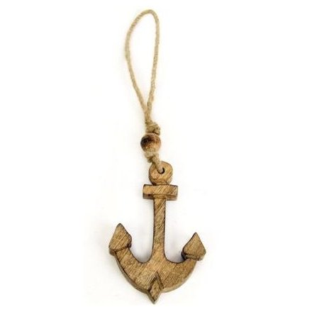 Seashore Wooden Anchor Decoration