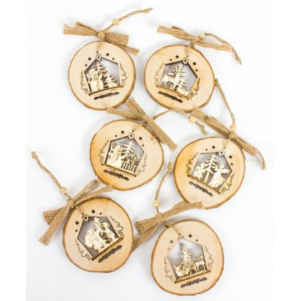 Wooden Hanging Decorations, 6a