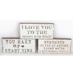 3 Assorted plaques with some of our most popular quotes