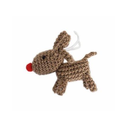 Hanging Crochet Reindeer