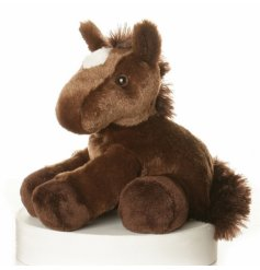 Cute horse soft toy in a chestnut colour by Aurora World. 8in