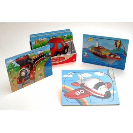 Wood Puzzle 9 Piece Transport 4a