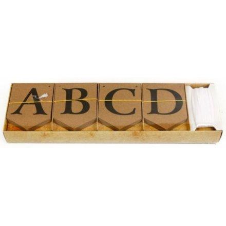 DIY Alphabet Kraft Bunting 75pk