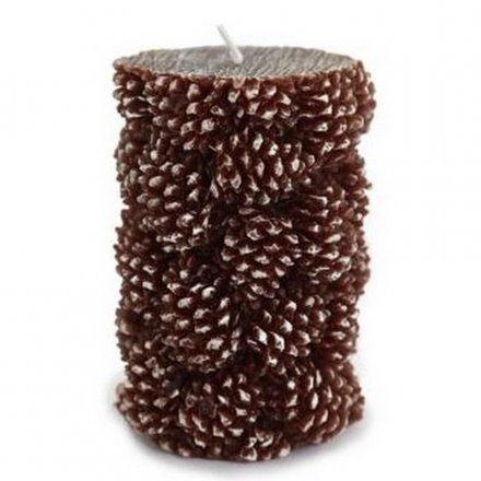 Pinecone Pillar Candle 11cm