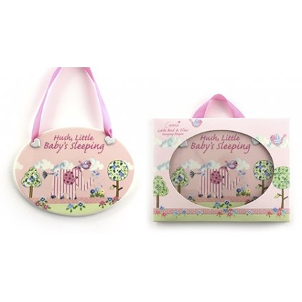 Bird & Ellie Hanging Plaque Pink
