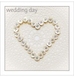 Elegant wedding day blank greetings card from ICON