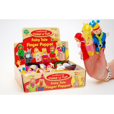 Wooden Face Finger Puppets